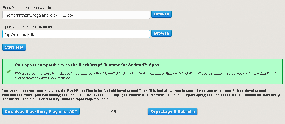 Converting and publishing an Android application ( apk) to